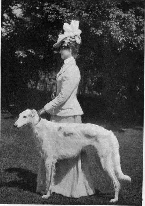 Mrs. Borman with Champion Statesman.