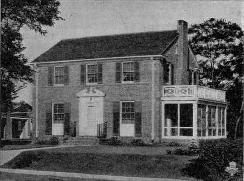 Typical New England Colonial Style House With