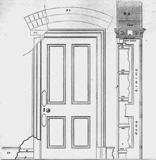Elevation Plan Door : Linings