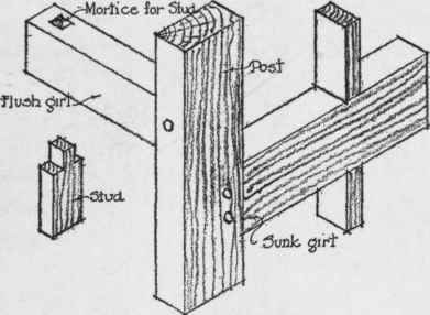construction of braced frame m0rt1ce tenon joints