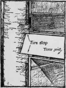 Placing Of The Fire Stops