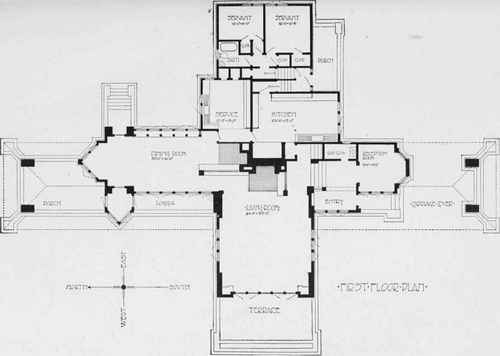 Frank Lloyd Wright Gordon House Floor Plan