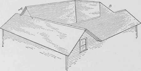 Hip And Valley Roof Showing Diffe Levels Around