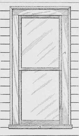 Outside finish around windows for Window elevation