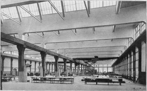 INTERIOR OF ASSEMBLY BUILDING OF THE GEORGE N. PIERCE COMPANY, BUFFALO, N.  Y.