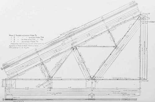Plate II. Working Shop Drawing of a Roof Truss.
