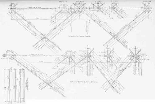 Working Shop Drawing of a Roof Truss. Plate III.