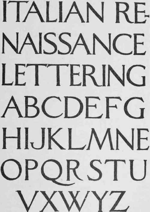 Classic Roman Letters  Continued