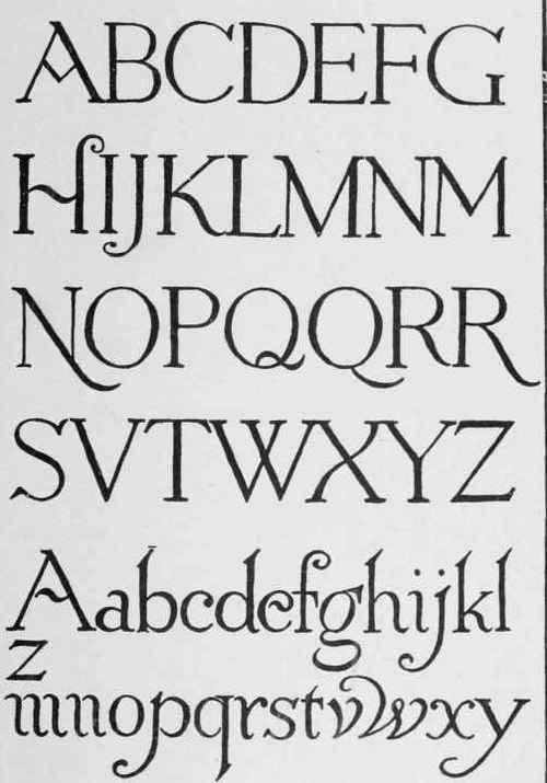 Roman Style Lettering Alphabet Images