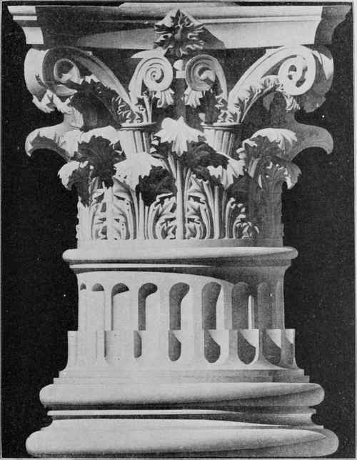 Corinthian Order Drawing Roman Corinthian Capital And