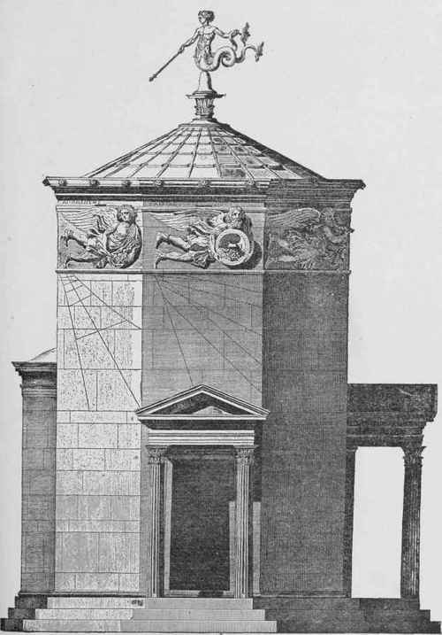 Fig. 74. Restoration of Tower of the Winds, Athens.