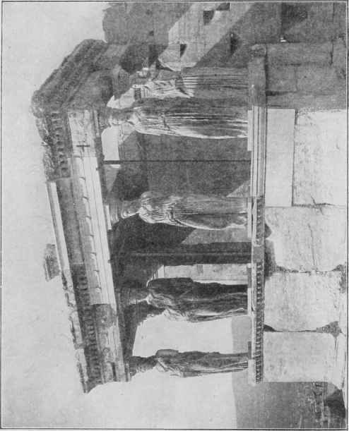Fig. 80. Porch of the Caryatides, the Erechtheum. Athens.
