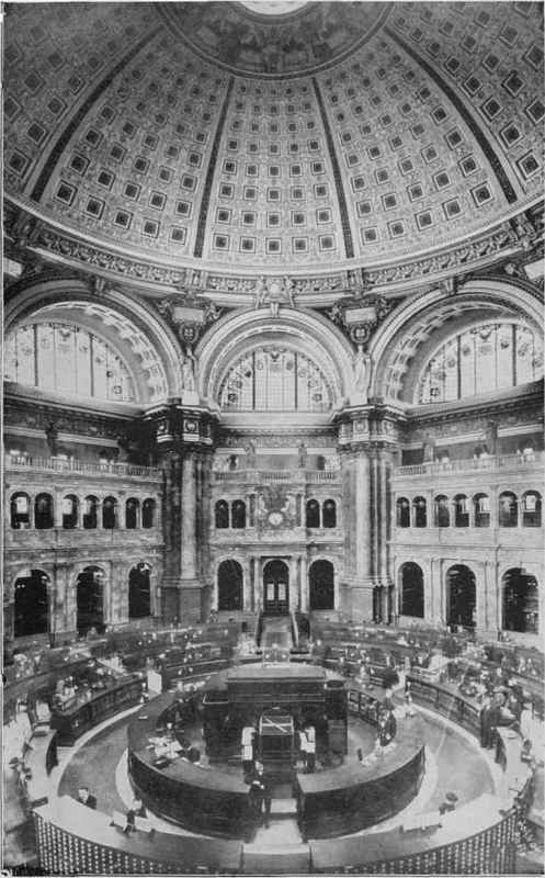 MAIN READING ROOM, U.S. CONGRESSIONAL LIBRARY, WASHINGTON, D. C.