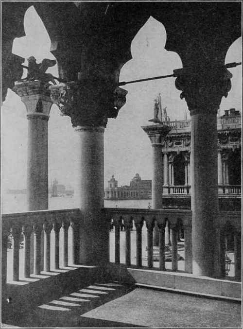 VIEW FROM SECOND STORY GALLERY OF DUCAL PALACE, VENICE, ITALY