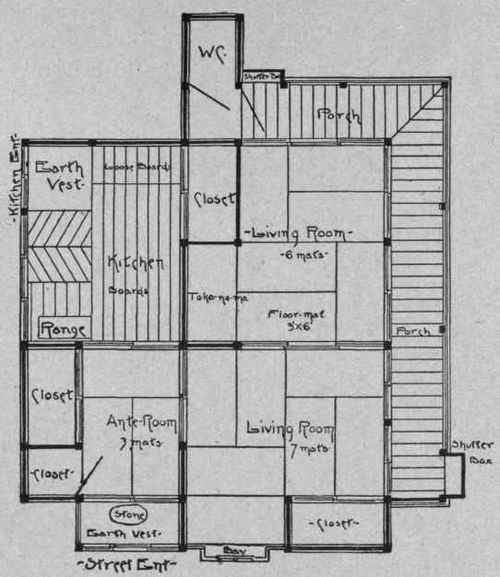 Traditional japanese home plans find house plans for Japanese house floor plan design
