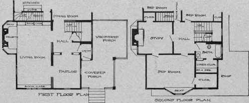 Excellent Plan For Small House. Faces South.
