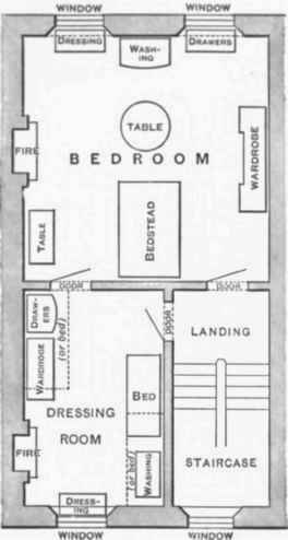 Bedroom And Dressing Room In Street House.