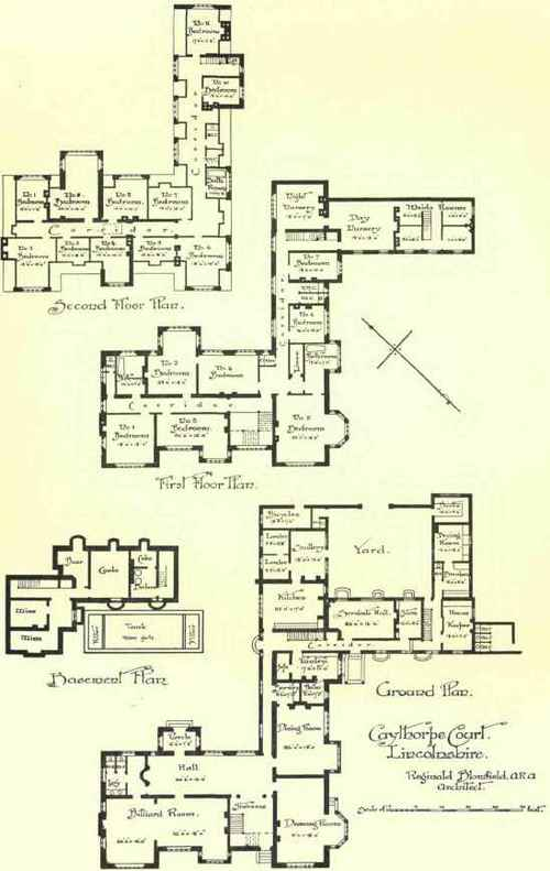Large country houses continued for Servants quarters house plans