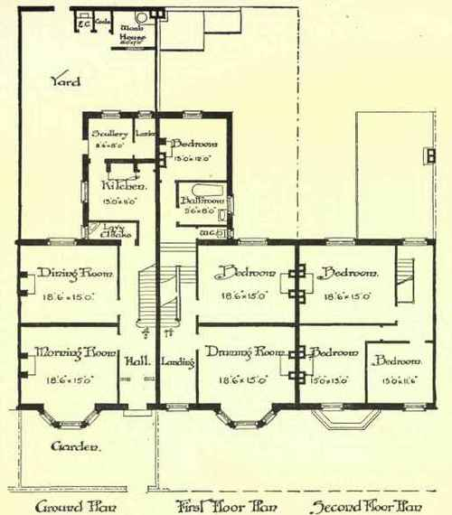 Terrace Houses Without Basements. Continued