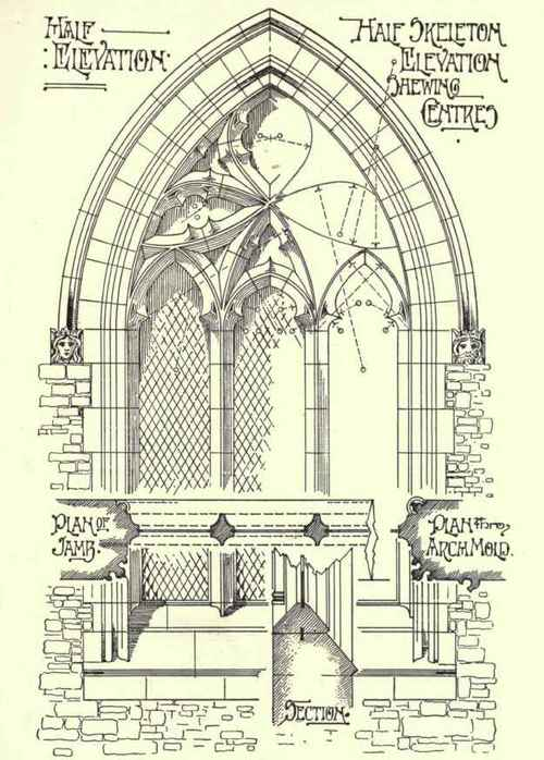 Simple Gothic Architecture Drawing Gothic Windows