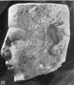 19, 20. 1st dynasty king, limestone