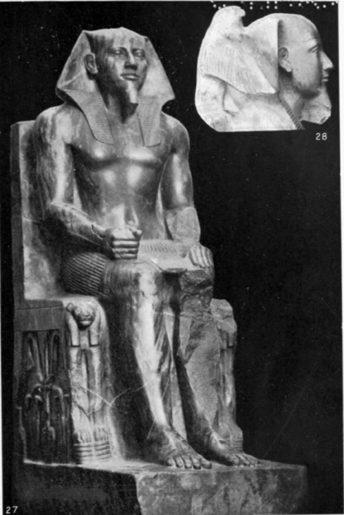 27, 28. King Khafra (IVth dynasty)