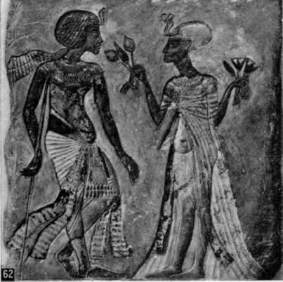 62. Akhenaten and queen