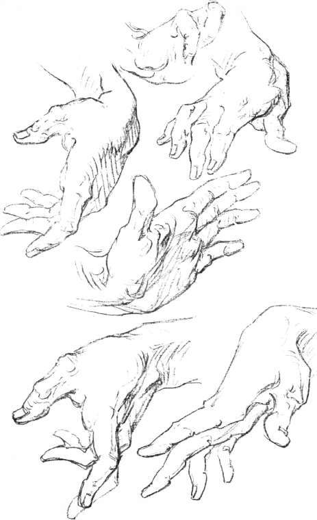 Hand Movements Drawing The Hand