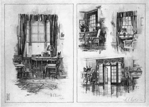 Interior Design Sketches Of Furniture ~ Interiors and furniture part