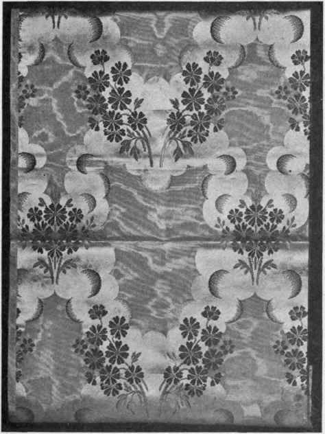 Fig. 6. Silk brocade showing up and down in design, produced by weave