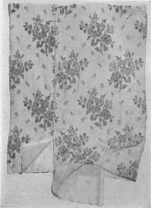 Fig. 7. Chiffon Brocade, illustrating waste of material in width when