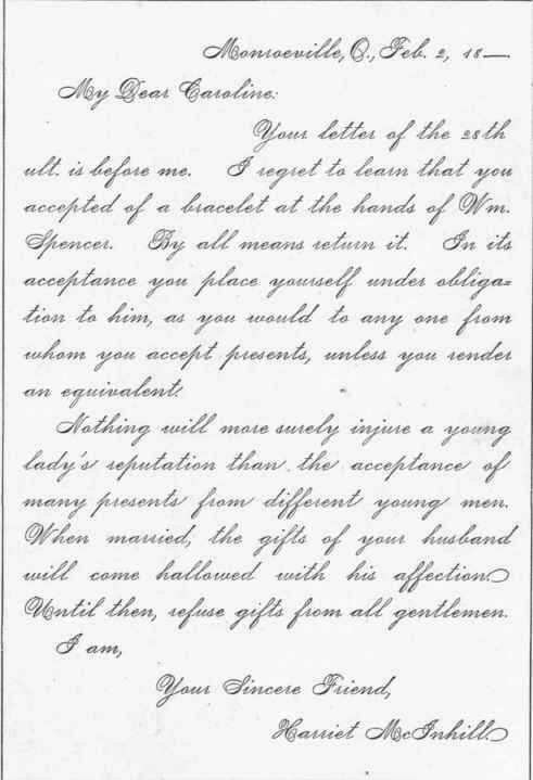Letters of admonition letters of advice advising a young lady to refuse gifts from gentlem 287 spiritdancerdesigns Gallery