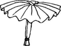 how to make a mushroom out of an umbrella
