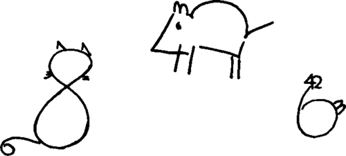 how to draw a dog using numbers