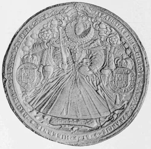 The great seal of queen elizabeth obverse