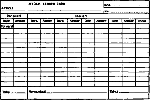 stock ledger sample