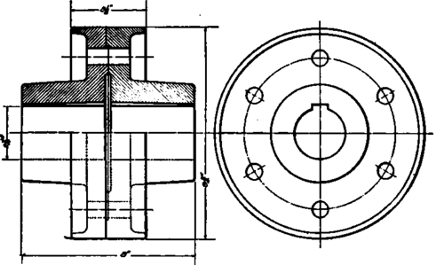 Flanged Coupling Giving Practical Application Of Fig 1