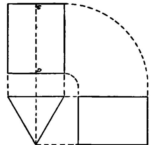 Plan And Elevation Of Prism : Representation of objects