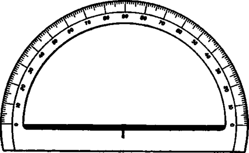 Cut Out Protractor