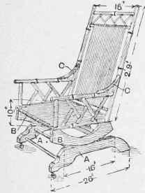 rocking chair sketch. bamboo rocking chair. chair sketch