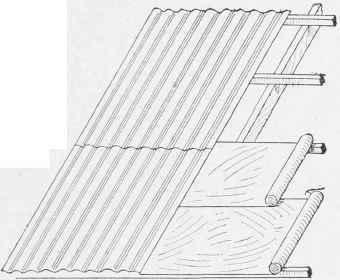 Roof Of Corrugated Iron And Felt