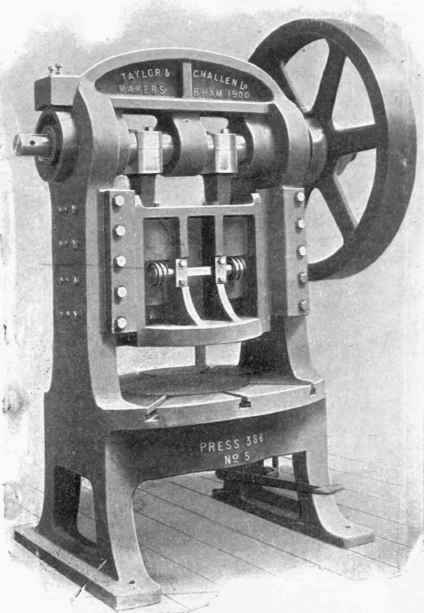 Adjusting Double Crank Presses