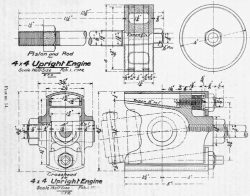 mechanical drawing  v  cross