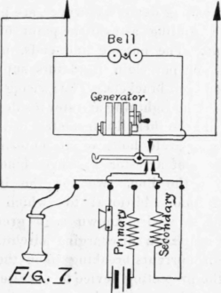 Telephone Circuits And Wiring. II. Lines with Magneto Generator on touch-tone telephone wiring diagram, western electric telephone wiring diagram, 2554 telephone wiring diagram, bell telephone system diagram, bell telephone ford, keystone telephone wiring diagram, bell telephone manuals, northern electric telephone wiring diagram, bell telephone schematic, rotary phone parts diagram, walker telephone wiring diagram,