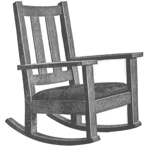 Rocking Chair Complete Drawing I