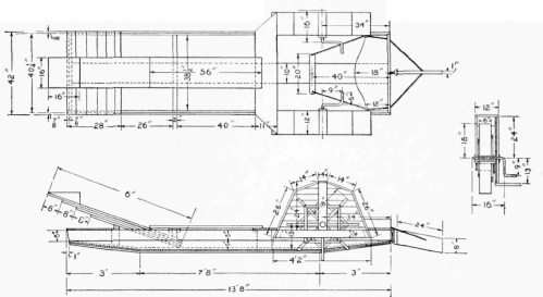 Detail Drawing of the Boat and One of the Paddle Wheels All how to build a paddle wheel boat