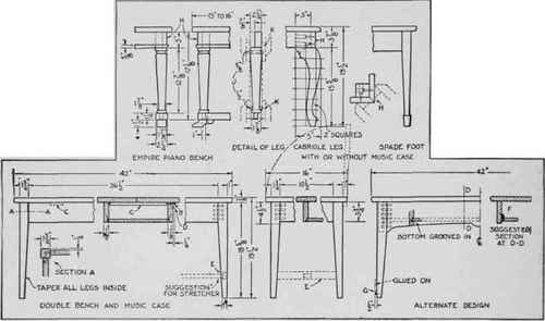 Furniture Working Drawings Working Drawings For a