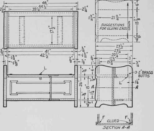 Furniture Construction Drawing Dimensioned Drawings of The