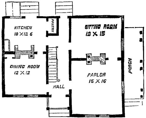 A mansard roof dwelling for Mansard roof house plans