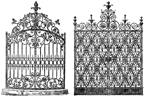 DESIGNS FOR IRON GATES.